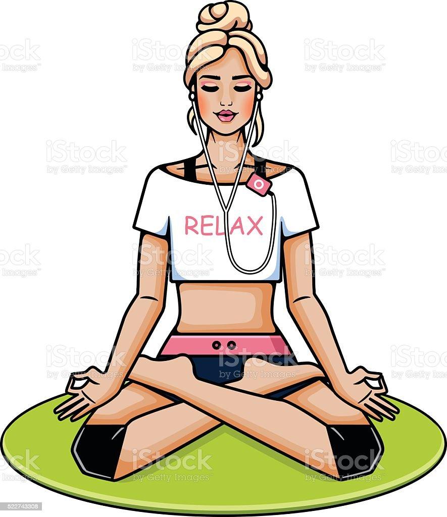 Relax vector art illustration