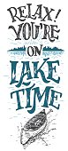 Relax you're on lake time cabine decor sign