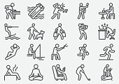 Relaxation and Exercise Line Icons
