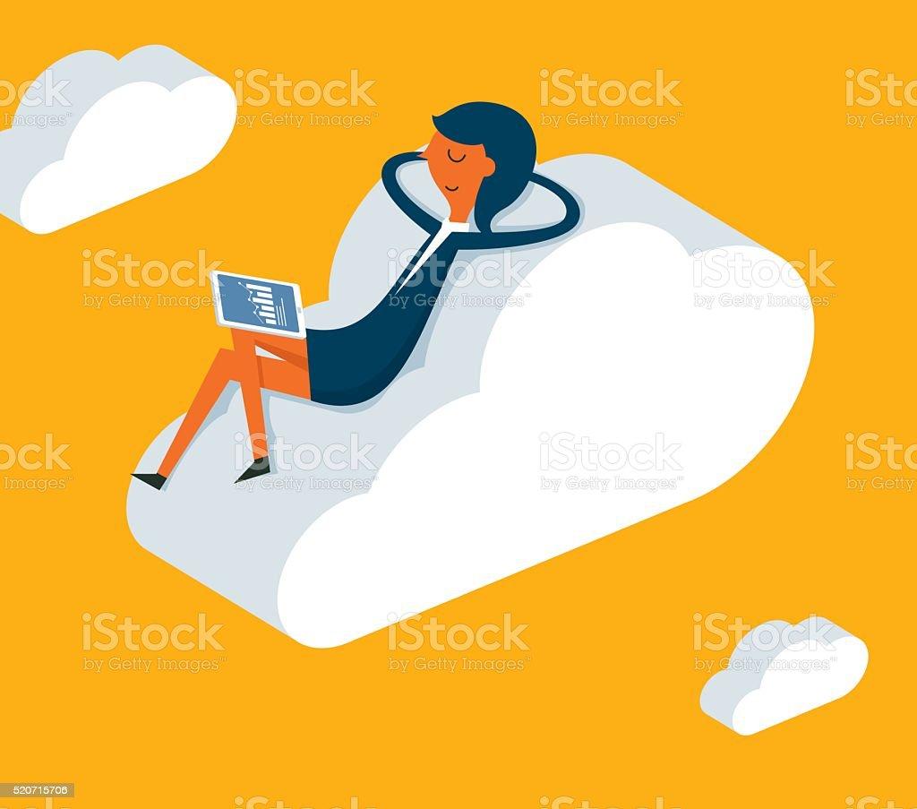 Relaxation vector art illustration