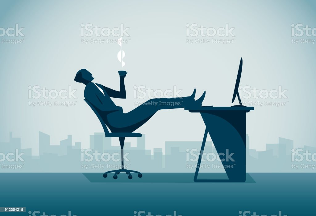 Relaxation vector art illustration