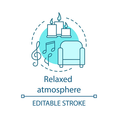 Relaxed atmosphere concept icon