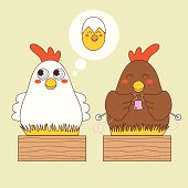 Relaxed Chicken Mothers