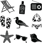 relaxing at the beach icons