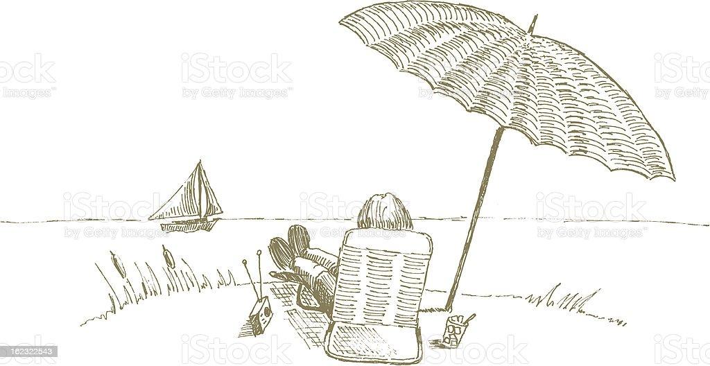 Segelschiff bleistiftzeichnung  Entspannen Am Strand Stock Vektor Art und mehr Bilder von ...
