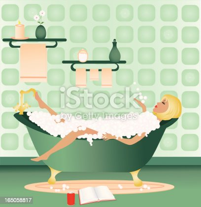 istock Relaxing Bath 165058817