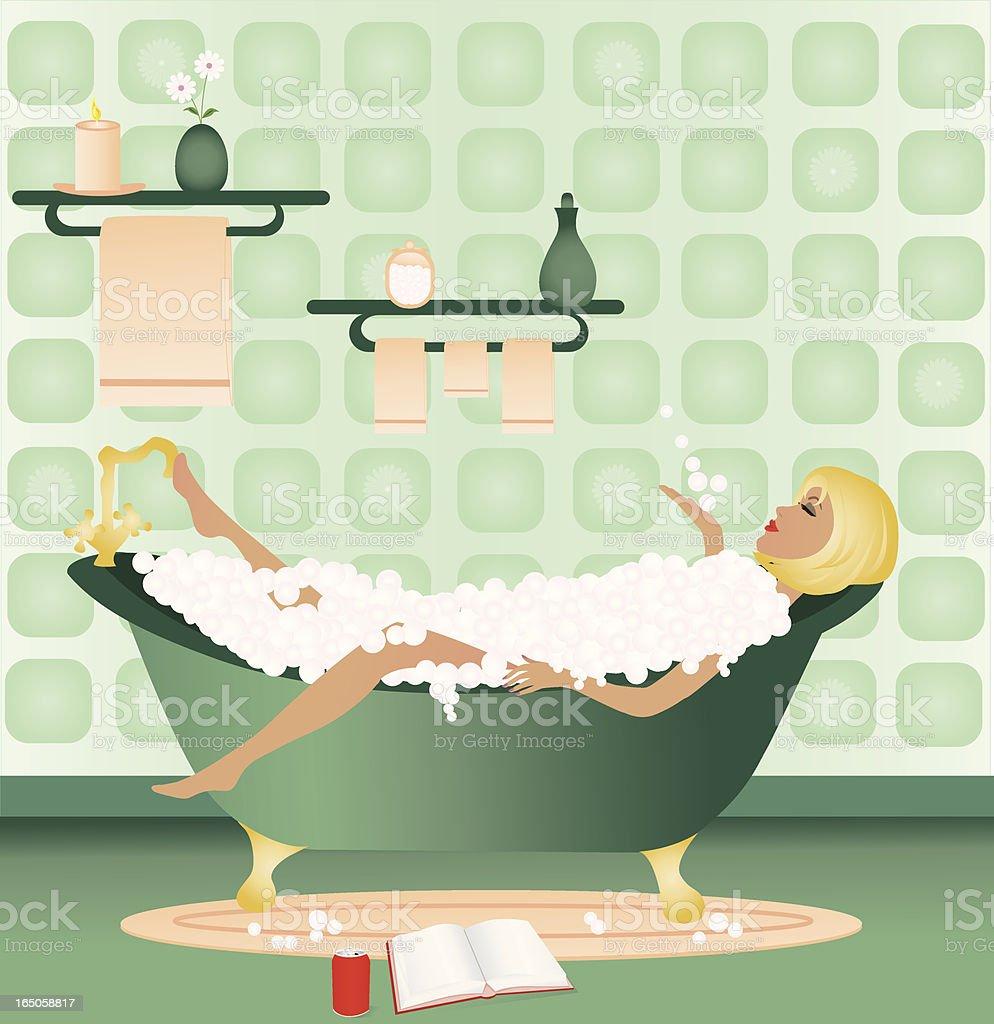 Relaxing Bath vector art illustration