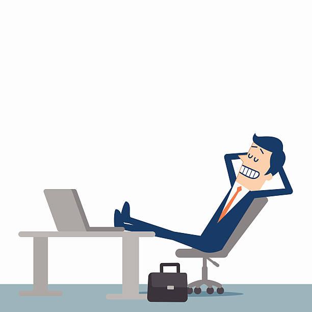 entspannende geschäftsmann - entspannungsmethoden stock-grafiken, -clipart, -cartoons und -symbole