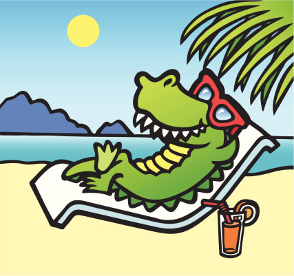 Relaxing Croc