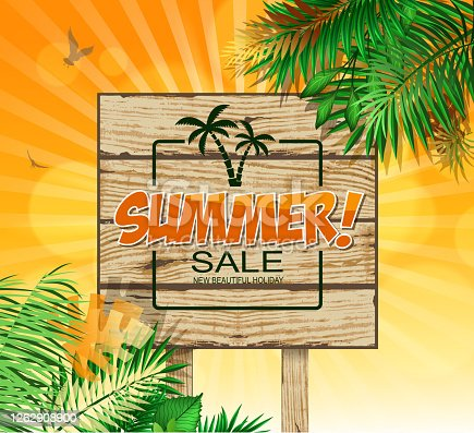 Drawn of vector relaxing summer sign. This file of transparent and created by illustrator CS6.