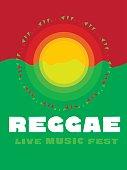 relaxing travel poster in reggae music color. Jamaica tribal sim