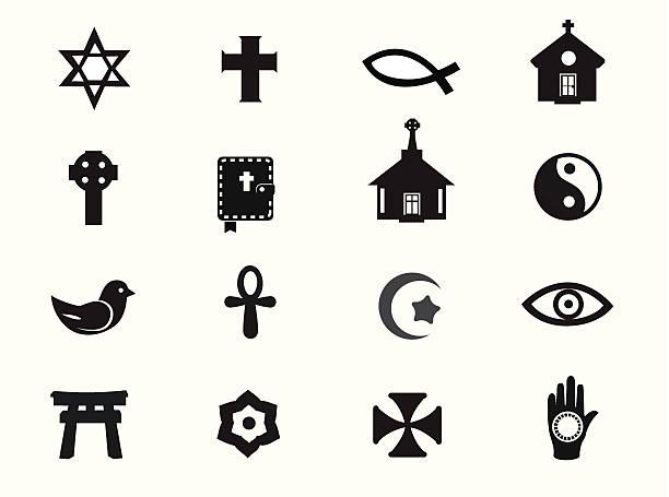 relgious icons - religious symbols stock illustrations, clip art, cartoons, & icons