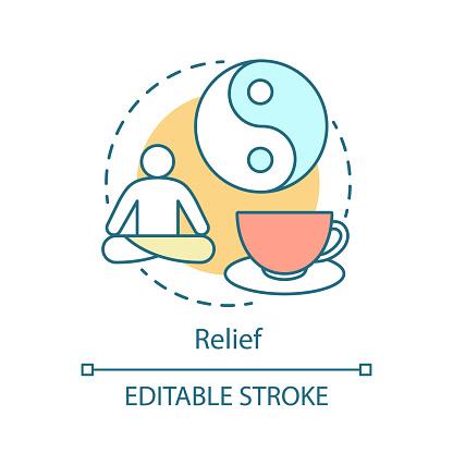 Relief concept icon