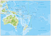 Relief Map of Oceania