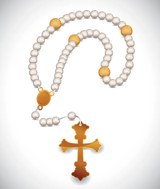 religion-design. - kreuzkette stock-grafiken, -clipart, -cartoons und -symbole