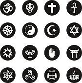 Religion Icons - Black Circle Series