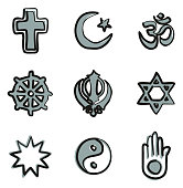 Religion Icons Freehand 2 Color