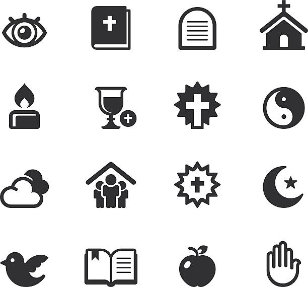Religion Icons Religion Icons on white background. seven deadly sins stock illustrations