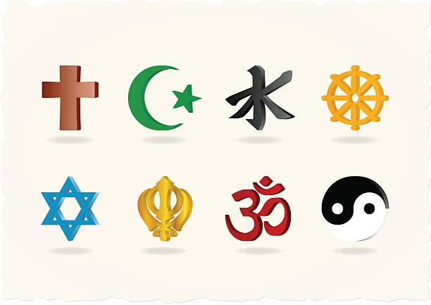 religion icons - religious symbols stock illustrations, clip art, cartoons, & icons