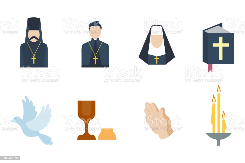 Religion icons vector illustration. - ilustración de arte vectorial