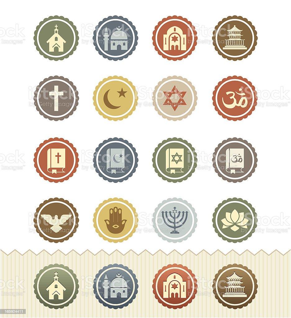 Religion Icons : Vintage Badge Series