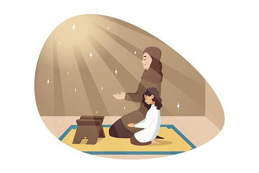 Religion, islam, leisure, God, Allah, motherhood, childhood concept