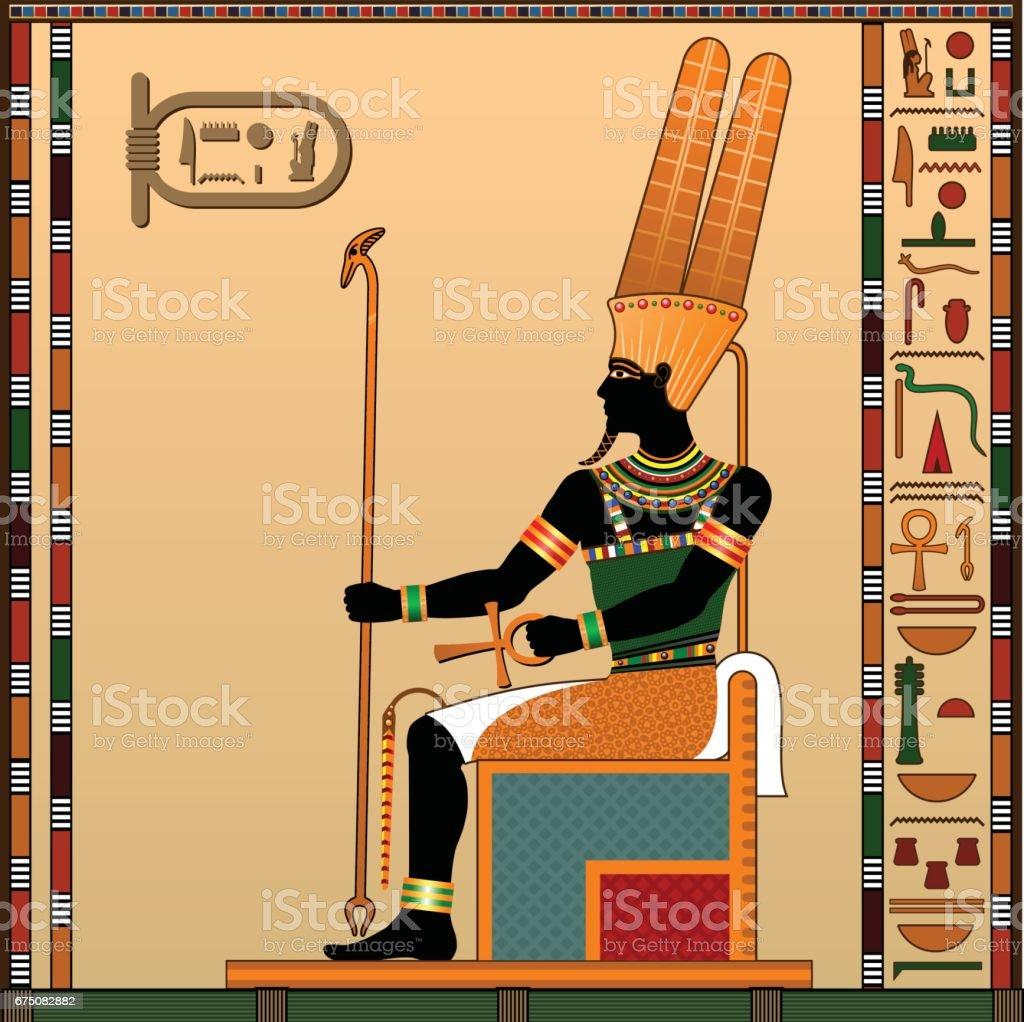 Religion of Ancient Egypt. vector art illustration