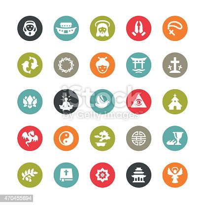 Religion related vector icons
