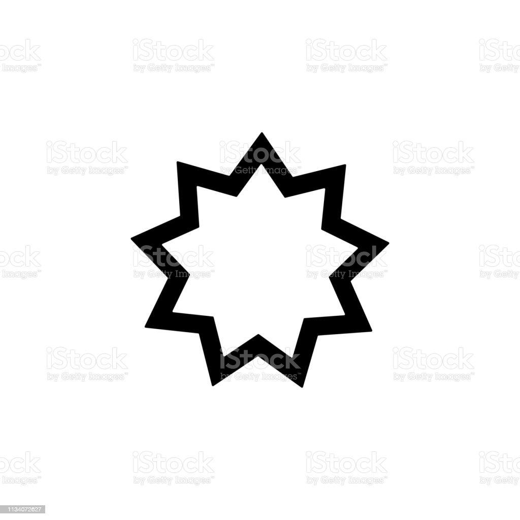religion symbol, Baha icon. Element of religion symbol illustration....