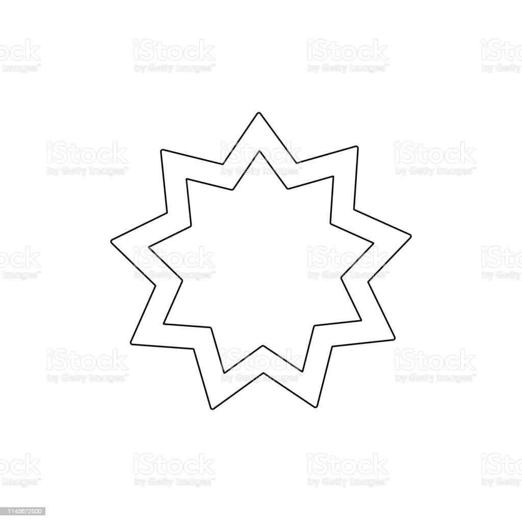 religion symbol, Baha outline icon. Element of religion symbol...