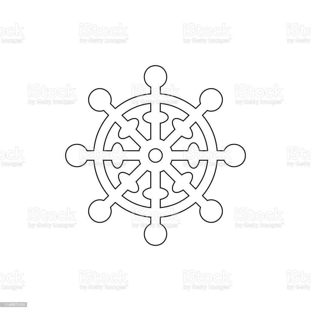 religion symbol, Buddhism outline icon. Element of religion symbol...