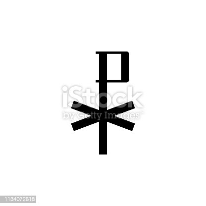 religion symbol, chi rho icon. Element of religion symbol illustration. Signs and symbols icon can be used for web, logo, mobile app, UI, UX on white background