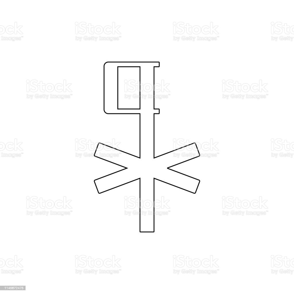 religion symbol, chi rho outline icon. Element of religion symbol illustration. Signs and symbols icon can be used for web, logo, mobile app, UI, UX