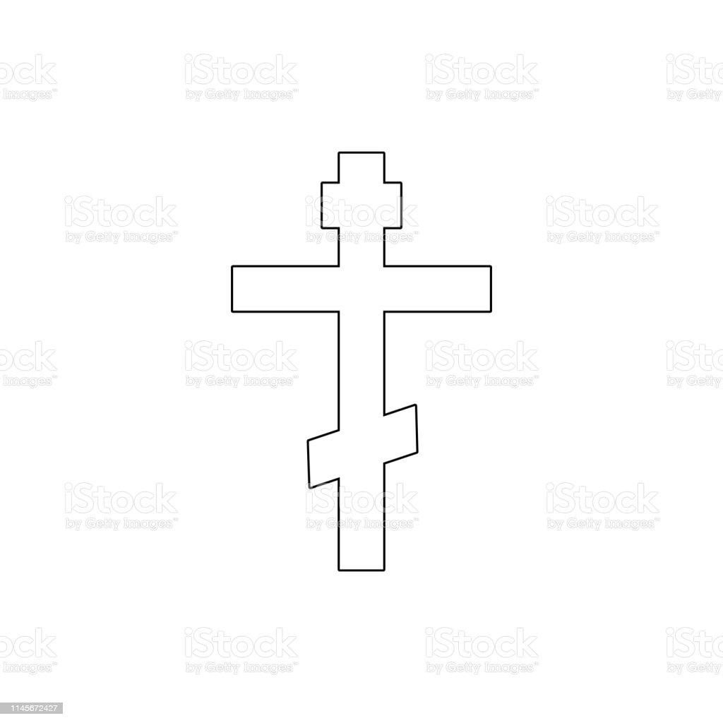 religion symbol, Christianity outline icon. Element of religion...
