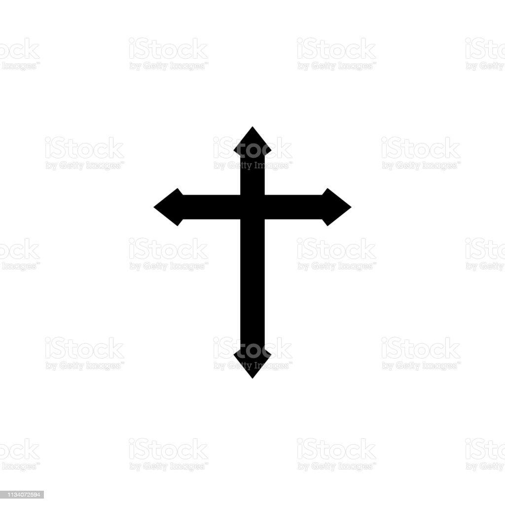 religion symbol, cross icon. Element of religion symbol illustration....