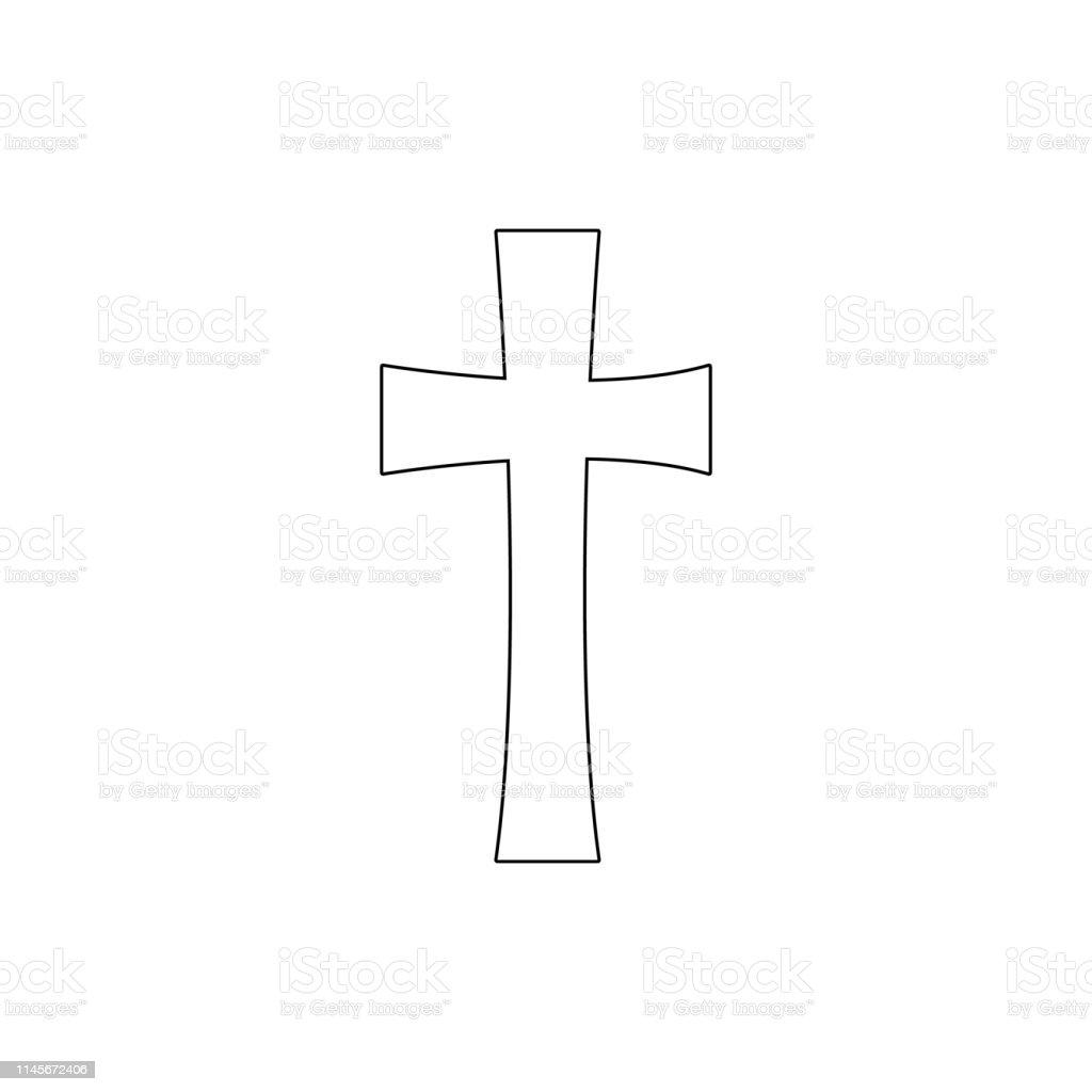 religion symbol, cross outline icon. Element of religion symbol...