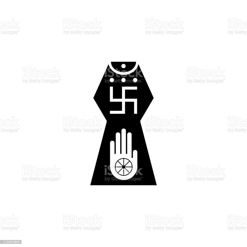 religion symbol, Jainism icon. Element of religion symbol...
