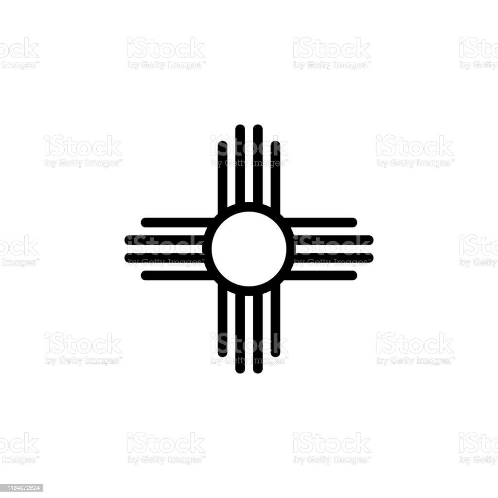 religion symbol, native American sun icon. Element of religion symbol...