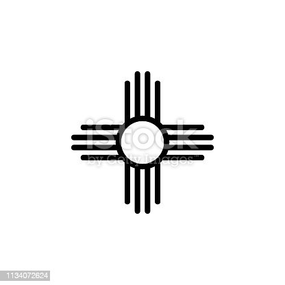 religion symbol, native American sun icon. Element of religion symbol illustration. Signs and symbols icon can be used for web, logo, mobile app, UI, UX on white background