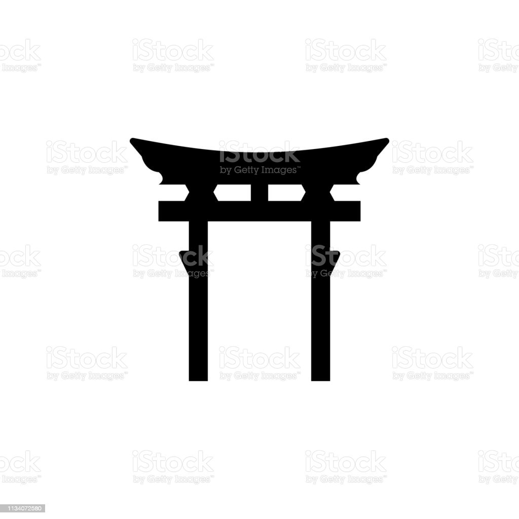 religion symbol, Shinto icon. Element of religion symbol...