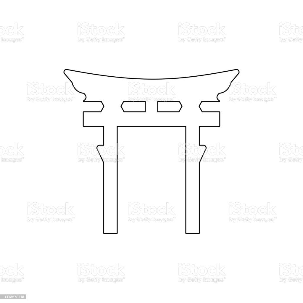 religion symbol, Shinto outline icon. Element of religion symbol...