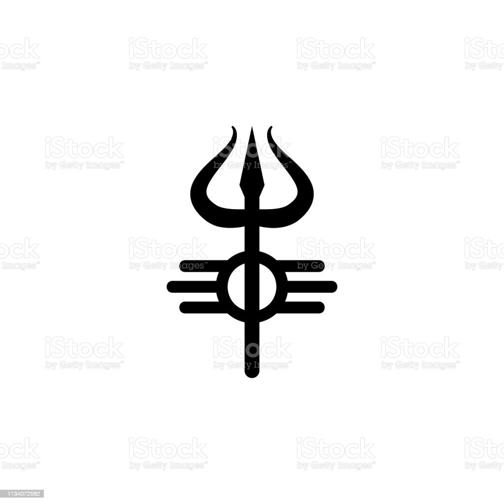 religion symbol, Shiva icon. Element of religion symbol illustration....
