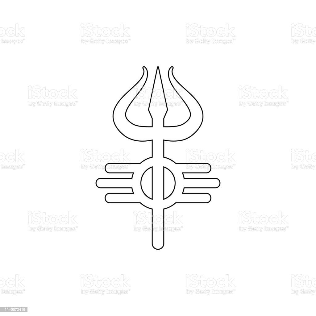 religion symbol, Shiva outline icon. Element of religion symbol...