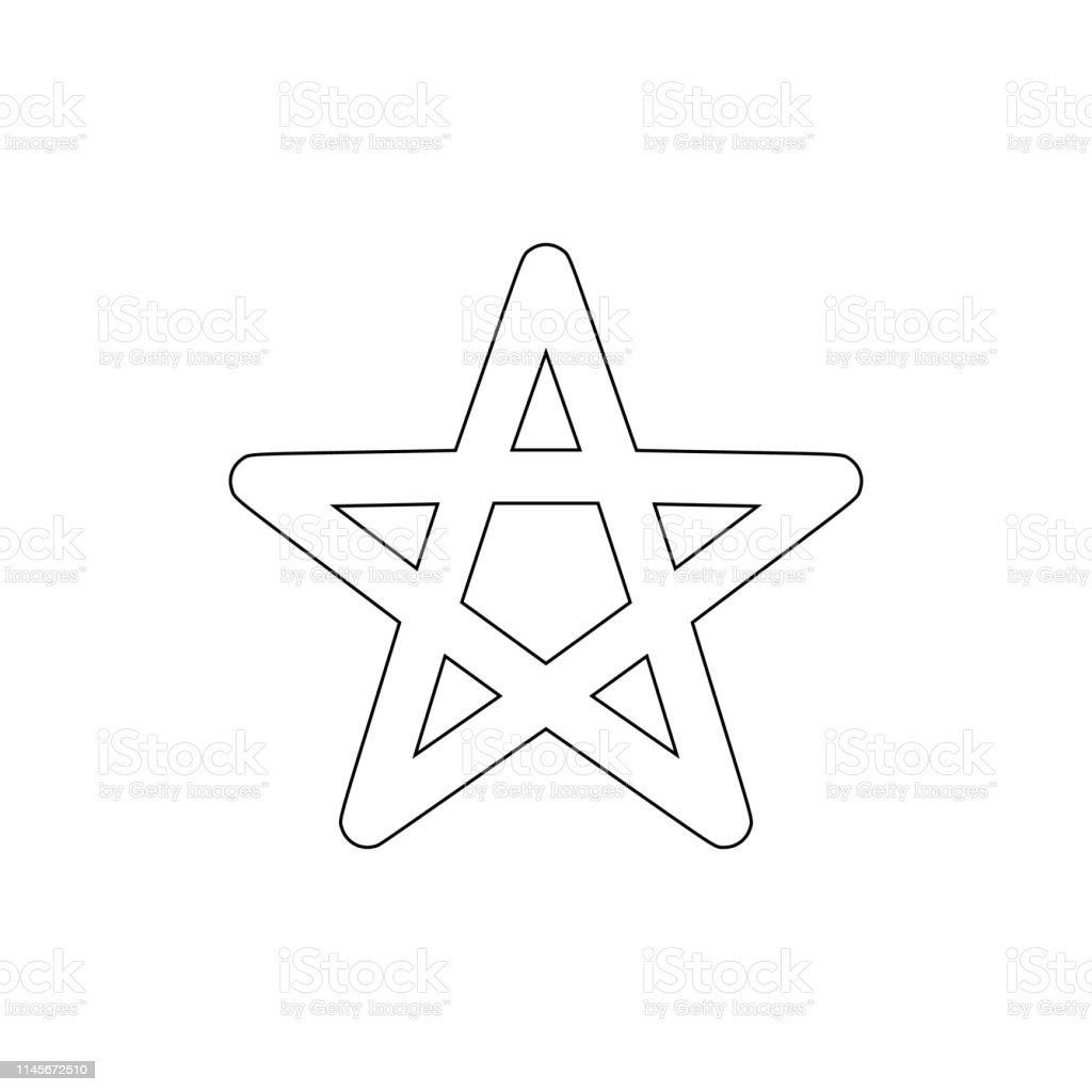 religion symbol, Wicca outline icon. Element of religion symbol...