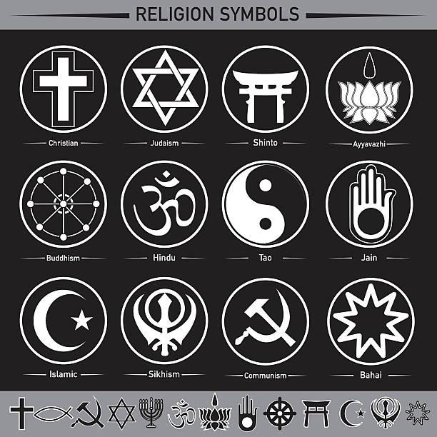 religion symbols - religious symbols stock illustrations, clip art, cartoons, & icons