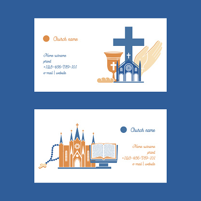 Religion vector catholic church or cathedral and religious sings