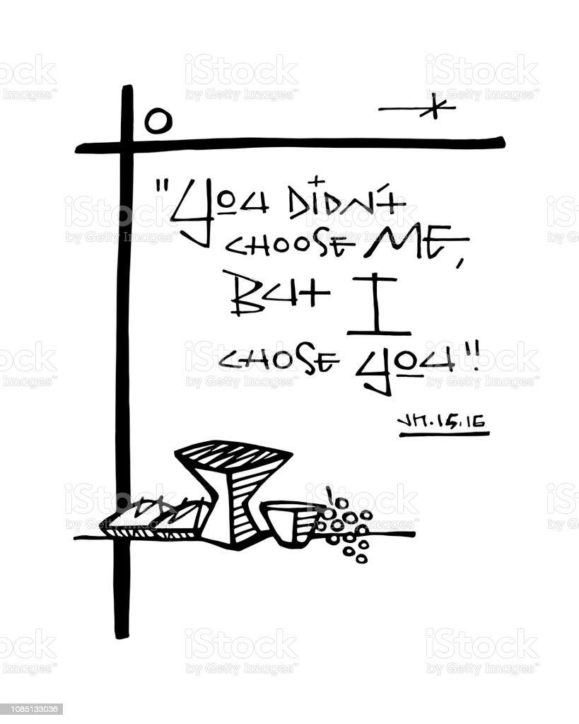 宗教キリスト教フレーズ インク イラスト イエス キリストのベクター