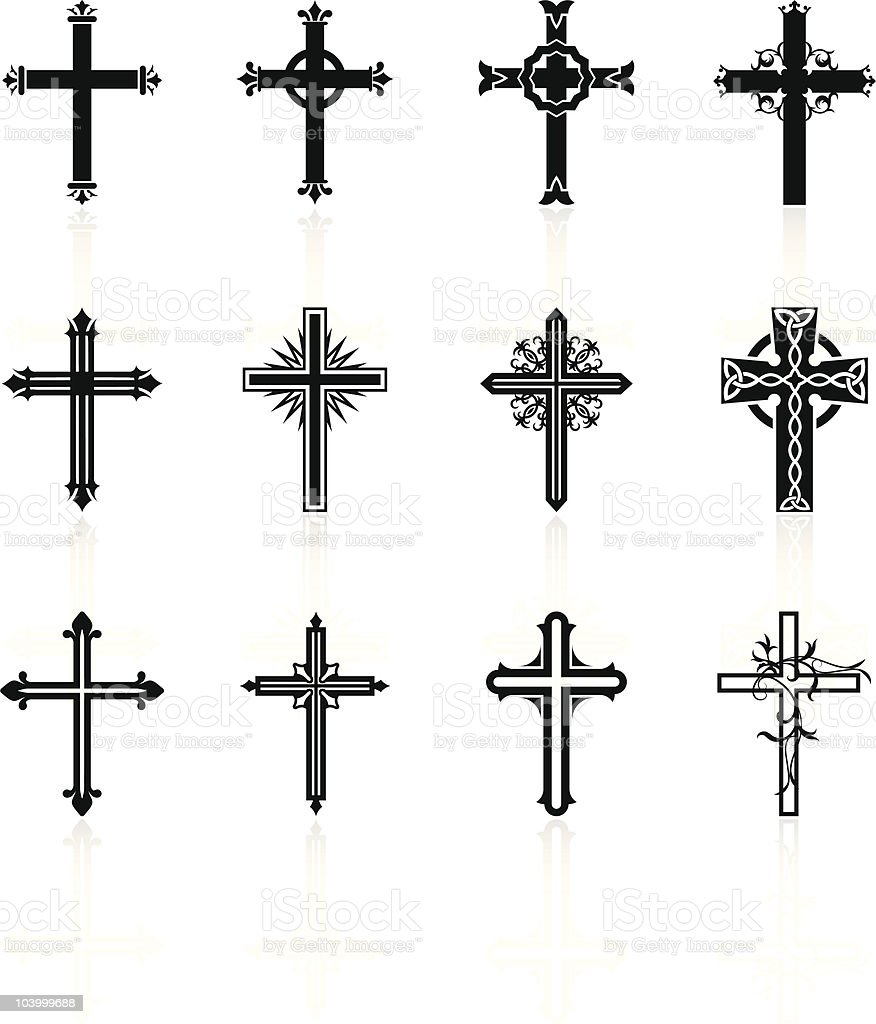 religious cross design collection royalty-free religious cross design collection stock vector art & more images of black and white