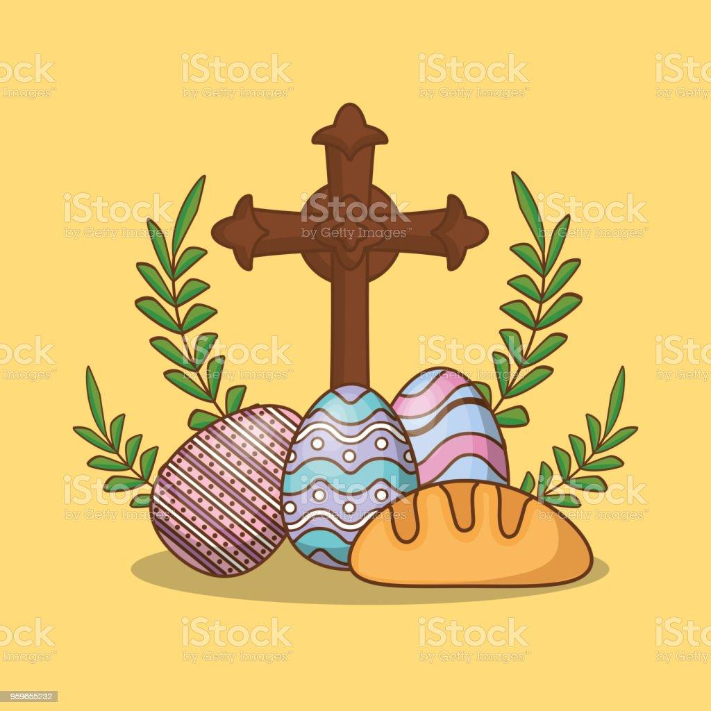 Cruz religiosa de diseño - arte vectorial de Anticuado libre de derechos