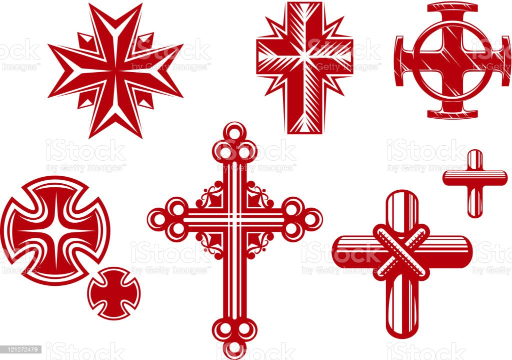 Religious crosses royalty-free stock vector art